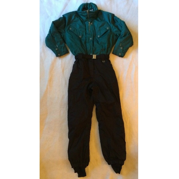 f0db6594d2962c Cornice Jackets & Coats | Vtg 80s 90s Mens L Ski Suit Snowsuit Black ...